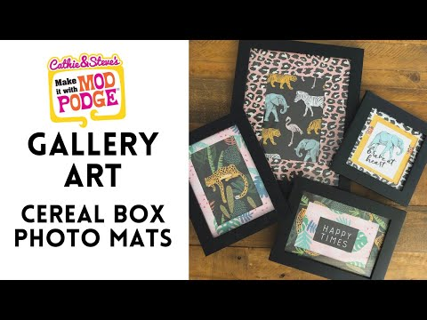 Gallery Art with Cereal Box Photo Mats