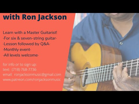 Ron Jackson Second Saturdays Live Lesson Basslines and Chord Melody!