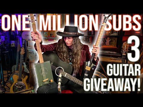 MILLION SUBS 3 GUITAR GIVEAWAY! • I'm Giving Away 3 Guitars!