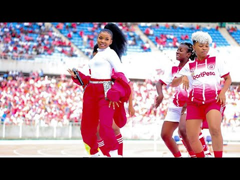 Zuchu Performing Live At Simba Super Cup In Mkapa Stadium
