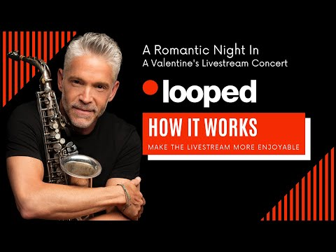 Video tutorial from Dave Koz's livestream partners at Looped. How it works!