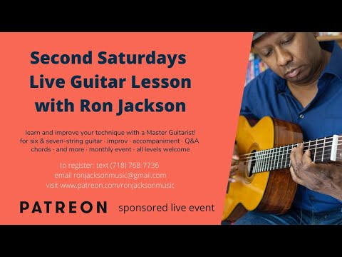 """Second Saturdays Live Lesson Topic , """"The Melodic Minor Scale"""" And Other Questions!"""