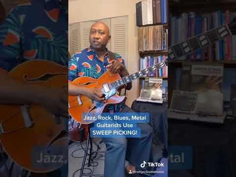 Jazz, Rock, Blues, Metal Guitarists Use Sweep Picking! #Shorts
