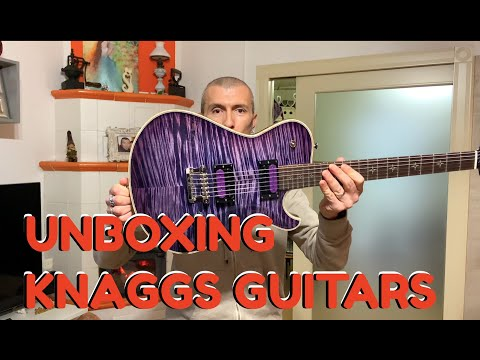 Knaggs Guitars Kenai UNBOXING (unpacking or unpackaging) awesome Purple Flamed!!! - Massimo Varini