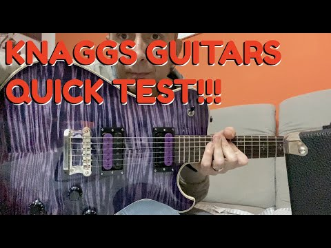 Knaggs Guitars with Bare Knuckle Pickups, quick test: mixolydian A7 improvisation w/practicing amp