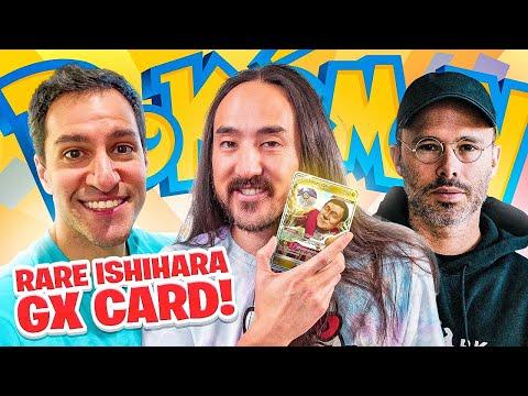 Steve Aoki x Daniel Arsham x Leonhart talk about the Incredibly RARE Ishihara GX Pokémon card!