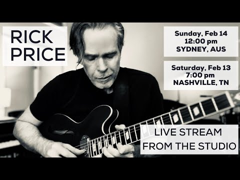 Rick Price Livestream From The Studio