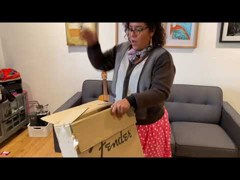 Unboxing our Fender Telecaster by La Santa Cecilia