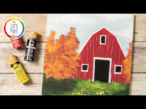 Let's Paint Live - Rustic Red Barn