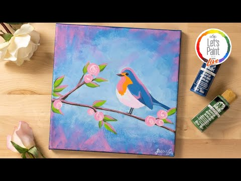 Let's Paint Live - Rosy Robin