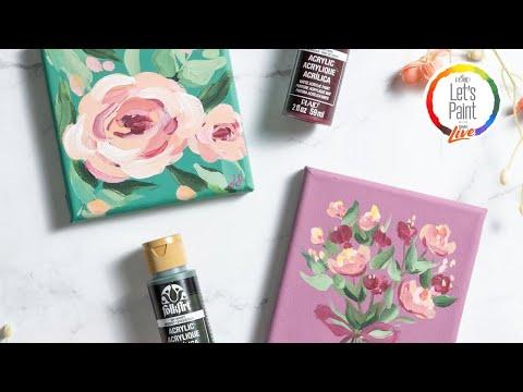 Let's Paint Live - Floral Love