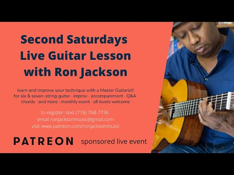 Second Saturdays Live Lesson Topic Chord Melody