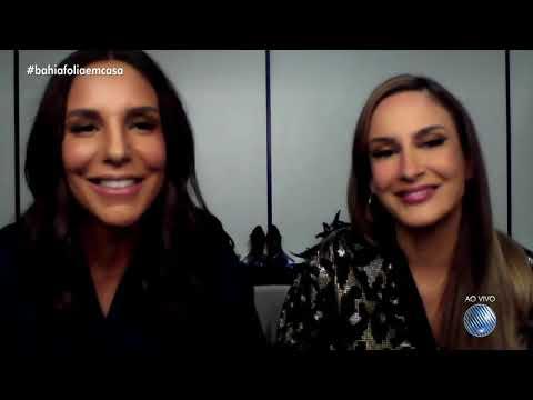 Claudia Leitte e Ivete Sangalo choram ao falar sobre cancelamento do carnaval