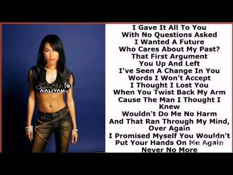Aaliyah - Never No More [Lyrics Video]