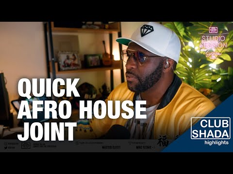 Making a quick afro house joint   Studio Session