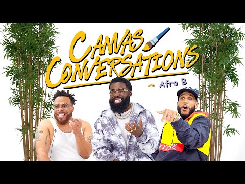 Afro B Freestyles And Speaks On London Slang While Being Drawn  | Canvas Conversations
