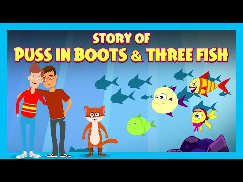 Story Of Puss In Boots & Three Fish | Bedtime Stories For Kids |Tia And Tofu Storytelling | Kids Hut