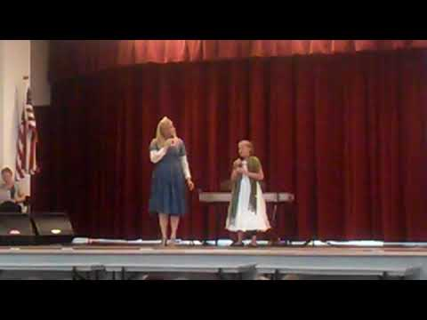 Evie Clair age 10 Singing Mozart with Mom