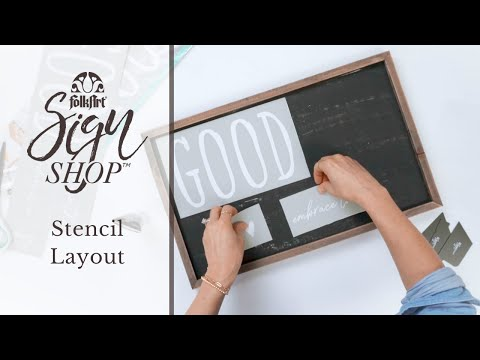 FolkArt Sign Shop - Stencil Layout