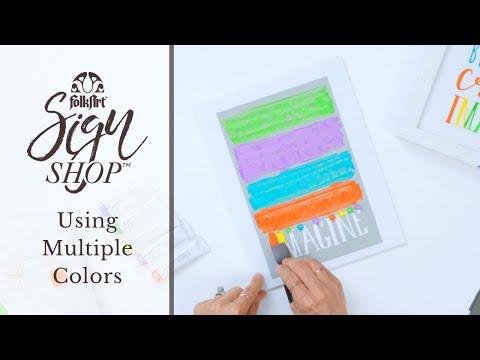 FolkArt Sign Shop - Using Multiple Colors