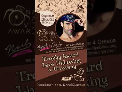 Giveaway Live Party @ facebook - Nail Art Video Award Winner / Nail Salon by Derek Liontis