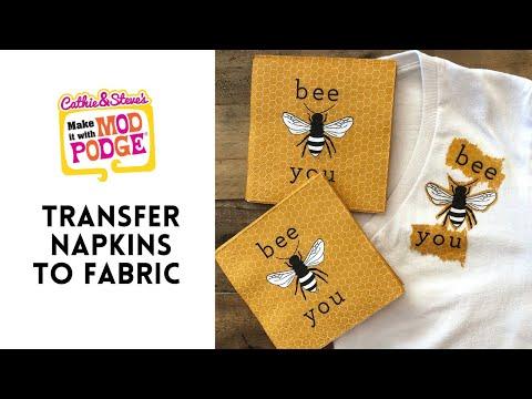Napkin Decoupage on Fabric