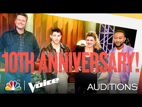 Nick Jonas Makes Quite an Entrance - The Voice Blind Auditions 2021