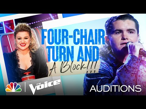 "Kenzie Wheeler's Four-Chair Turn Performance: ""Don't Close Your Eyes"" - Voice Blind Auditions 2021"