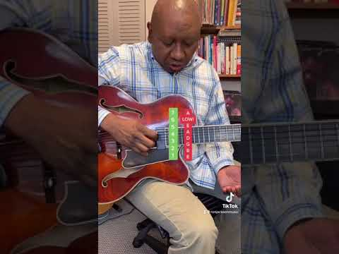 Do You Know How 7 String Jazz Guitarists Tune Their Guitar? #Shorts #7string #tuning