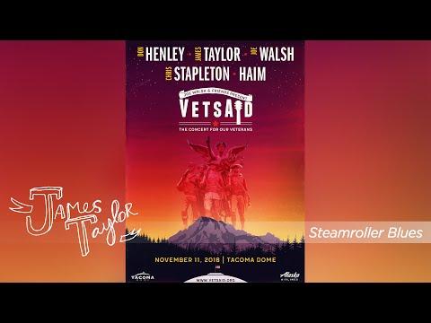James Taylor - Steamroller Blues (VetsAid with Joe Walsh, Tacoma, 11/11/18)