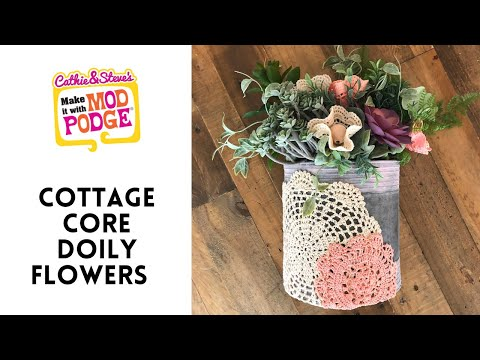 Cottage Core Doily Flowers
