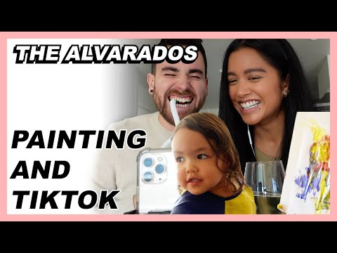 Painting and TikTok - The Alvarados