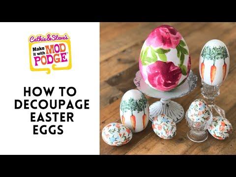 DIY Decoupaged Easter Eggs