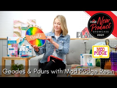 Geodes & Pours with Mod Podge Resin - Plaid's 2021 New Product Showcase - Session 2