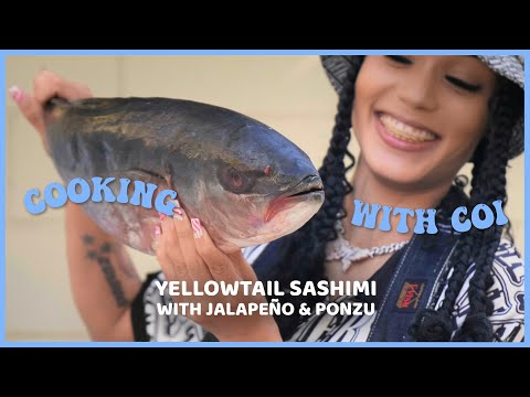 Cooking With Coi Leray - Yellowtail Sashimi With Ponzu