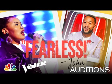 """Denisha Dalton Brings Her Own Style Performing Zayn's """"Pillowtalk"""" - The Voice Blind Auditions 2021"""