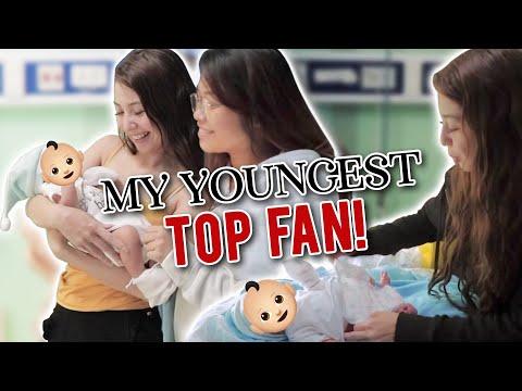 Surprising a Fan in labor! Plus meeting my newborn TOP FAN!
