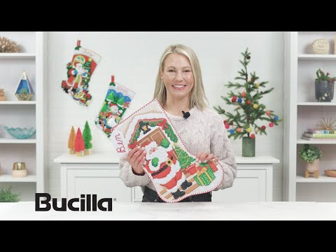 Bucilla Gem Dot Stocking Kits - Unboxing and How-To