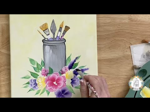 "Learn to Paint a ""Welcome to my Studio"" sign with Donna Dewberry - FolkArt One Stroke Q1 Round Up"