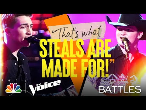 """Ethan Lively vs. Avery Roberson - James Otto """"Just Got Started Lovin' You"""" - The Voice Battles 2021"""