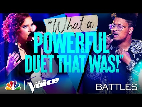 "Zae Romeo vs. Lindsay Joan - ""Rewrite the Stars"" from The Greatest Showman - The Voice Battles 2021"