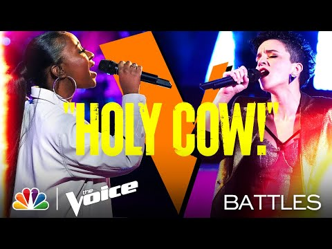 "Gihanna Zoë vs. Halley Greg - Ed Sheeran's ""Thinking Out Loud"" - The Voice Battles 2021"