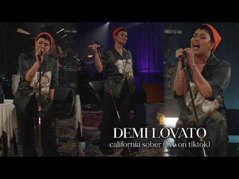 Demi Lovato - California Sober (Live on TikTok)
