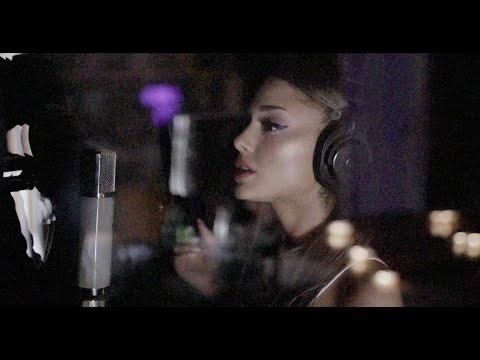 "studio footage: vocal arranging the ""positions"" bridge - ariana grande"