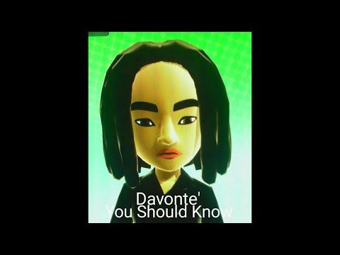 Davonte' - You Should Know (Unreleased Demo)