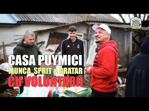 Casa Puymici 🥩 Munca, sprit si gratar cu voluntarii