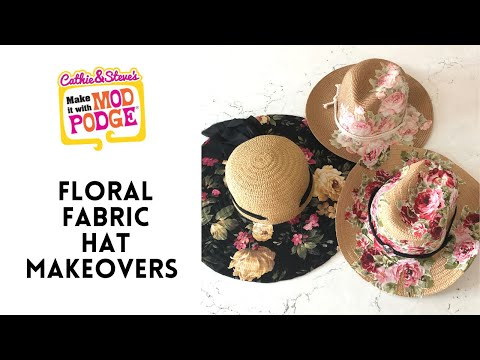 Floral Fabric Hat Makeover Tutorial