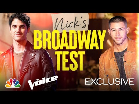 Nick Jonas Quizzes Darren Criss on Broadway Characters - The Voice Battles 2021