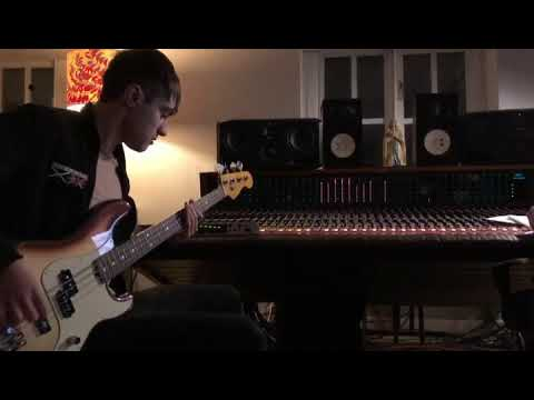 The Sherlocks in the studio laying the bass down to 'End of the Earth'