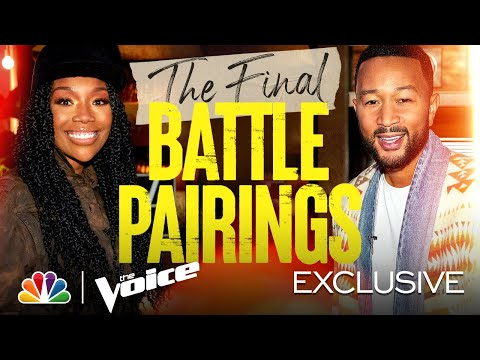 The Final Battle Pairings for Teams Kelly, Nick, Legend and Blake Are Revealed - Voice Battles 2021